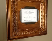 Huge 8 x 10 distressed antique gold ceiling tin picture frame