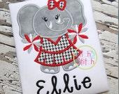 Custom Alabama Cheerleader or Jersey Elephant tshirt or onesie