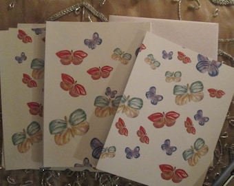 Rainbow Butterfly Note Cards