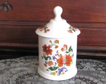 Apothecary Pharmaceutical Jar Opium Poppy Papaver Somniferum Design Lid
