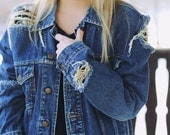 Denim Levi's Wrangler Jacket Ripped Jeans Destroyed Vintage MADE TO ORDER