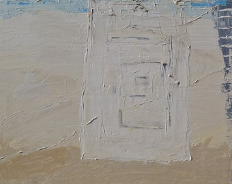 """SALE! Original abstract textured landscape acrylic painting """"My Path Back"""", 24"""" x 36"""" on canvas.  Wall art."""