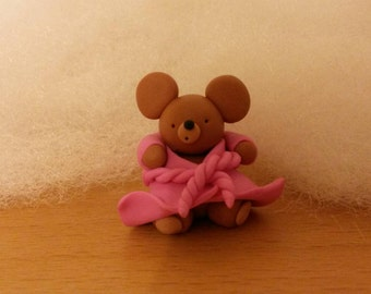 cute bear -  made from Polymer Clay (fimo)