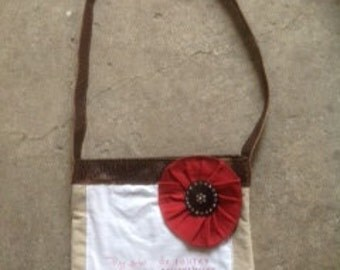 Inspirational Bible Verse Bag made from Vintage Materials