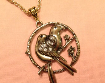 Bird Necklace Love Bird Necklace Gold Long Chain Necklace Bird Jewelry