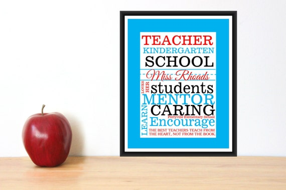 Teacher gift- Quick and Easy Print PDF