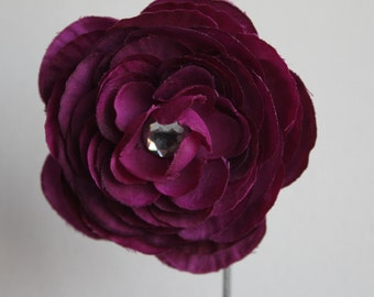 Purple hair flower