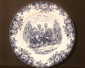 Johnson Brothers Coaching Scenes Dinner Plate Blue and White China English Transferware