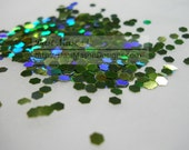 Holographic Light Green 3 mm Hex Shaped Glitter