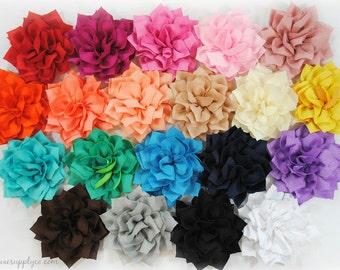 GRAB BAG of Poinsettia Flowers - Fabric Flower Appliques No Center Embellishment - Random Assortment, you cannot choose the colors!