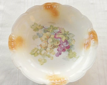 Vintage Hand Painted OCCO Serving Bowl, Antique, Victorian, Home Decor, Ca. 1900's