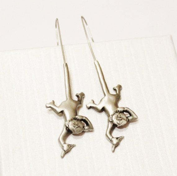 vintage monkey earrings monkey jewelry unique by designzbyruth