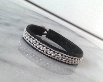 Lapland Sami Bracelet, Reindeer leather, Custom made