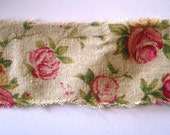 "Vintage Inspired Rose Print Ribbon, Multi, 2 1/2"" inch wide, 1 yard For For Gift Packing, Wreaths, Center Pieces, Home Decor"