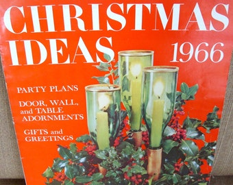 Better Homes and Garden Christmas Ideas Magazine 1966