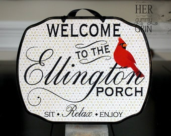 CUSTOM - PERSONALIZED SIGN --- Welcome Sign, Baby Sleeping Sign, Custom Sign 11 x 9