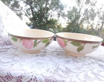 Franciscan Dessert Rose Circa 1941-1984,Vintage Dishes,Vintage Kitchen,Vintage Bowls,  Set of  Two small Dessert  Bowls :)S
