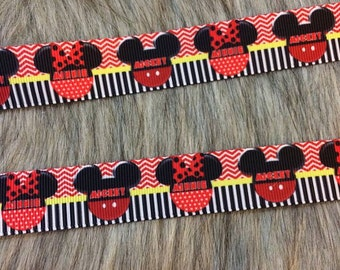 "7/8"" Grosgrain Minnie Ribbon"
