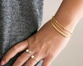 Slim Curve Bar Bracelet, Gold / Silver / Pink Gold, Minimalist Jewelry, LJ bj, As Seen on Buzzfeed