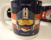 Star Wars Wedge Antilles X-Wing Pilot Red 2 Helmet 11 oz Mug
