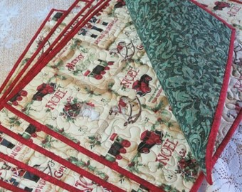 Quilted Christmas Placemats Vintage Toy Shop 381