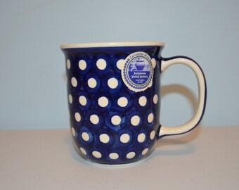 Polka Dot Polish Pottery Mug-Made in Poland