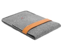 iPad Mini Case iPad Sleeve Wool Felt Tablet Case for iPad Mini 3 2 1 Christmas Gift Tablet Sleeve with Italian Thick Leather Strap