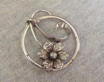 Vintage Forstner 925 Sterling Silver Floral Design Pin/Brooch