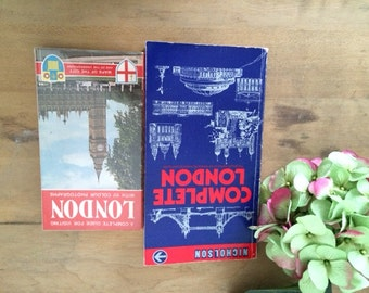 Vintage London Tourist Guides, 1970s London Touring Books with Maps