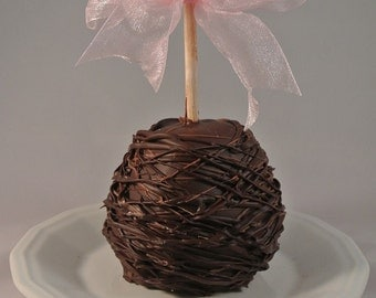 TWO - Dark Chocolate Overload Gourmet Chocolate Caramel Apples