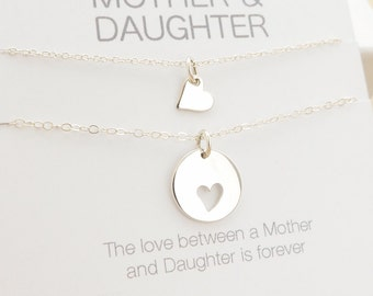 Mother Daughter Necklace - Mother Daughter Jewelry - Mother Daughter Gift - Delicate Necklace - Sterling Silver Jewelry - One Daughter