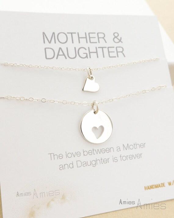 Célèbre Mère fille collier Bijoux de fille mère mère fille cadeau OV54