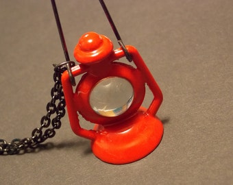 Red Ship's Lantern Necklace