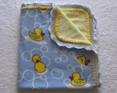 Soft and Warm Baby Duckie Fleece Blanket with Crochet Edging