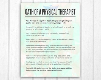 Physical Therapist Oath Print