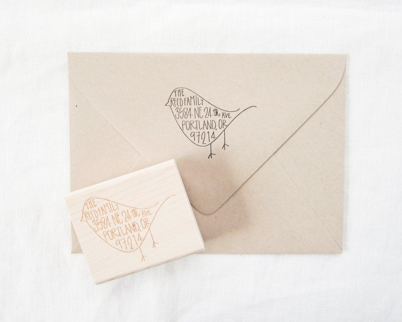 Custom Address Stamp Return Address Stamp Hand