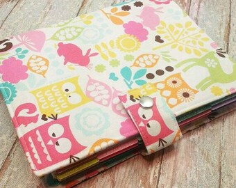 Planner Cover - in Michael Miller Forest Life fabric -F2