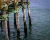Fishing Pier Docks at Virginia Beach, 8x10 Lustre Print, Fine Art Photography, Landscape Wall Art, Nature Photography, Ocean Serene Scene