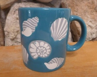 Waechtersbach Spain Sea Shell mug Caribbean blue color