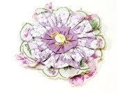 Statement Flower Corsage Pastel Spring Beach Flower Hair Clip Original Handmade Textile Fiber Fabric Brooch  itsyourcountryspirit