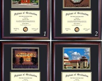 UTEP Diploma Frame