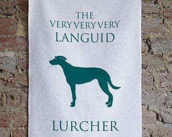 Lurcher Tea Towel / Lurcher Gift / Lurcher Present