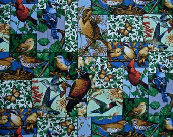 Bird Print Fabric 3 yards and 5 inches  x 44 in