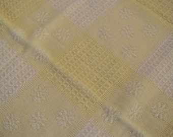 Vintage Yellow and White Baby Blanket