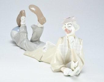 Lladro Clown Salvador Furió - Original Box - Porcelain Circus 1970