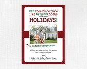 NEW ADDRESS CHRISTMAS Card — Custom, Combination New Home Announcement and Holiday Photo Card, New House, Moving