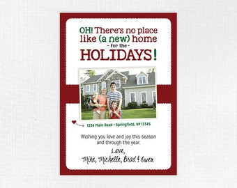 Combination New Home and Christmas Photo Card, Custom PDF