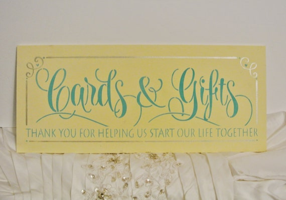 Wedding Gift Box Sign : Cards and gifts Sign, wood Wedding Sign, Card box sign, photo prop ...