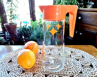 Vintage Tang Pitcher Anchor Hocking Glass Retro
