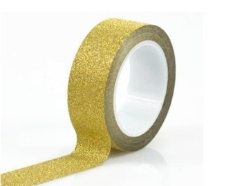 5 meter Golden Glitter Washi Tape